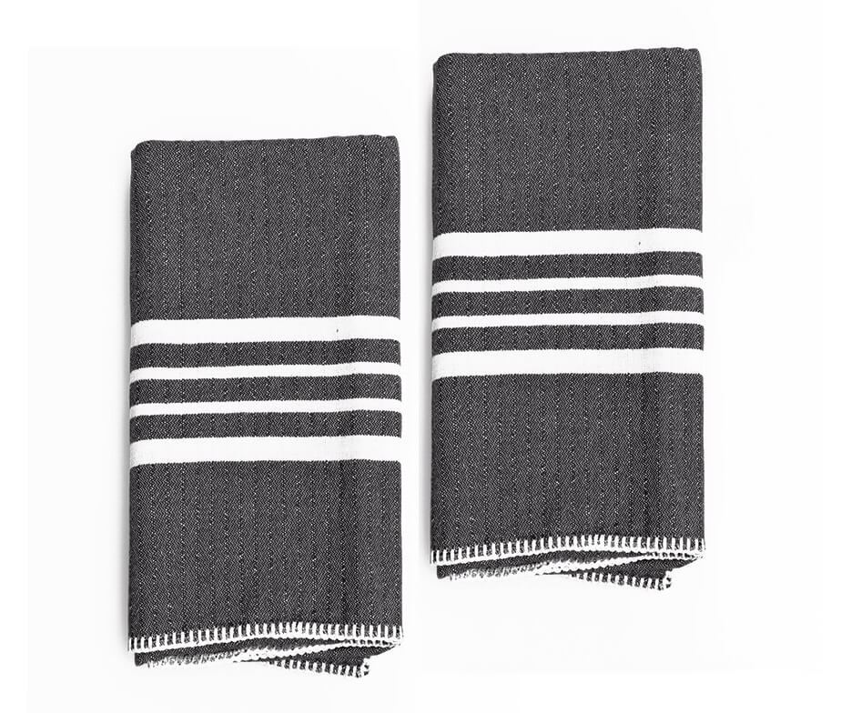 Farmhouse Hand Towel Without Fringes Set Of 2 Turkish Towels For Beach And Bath Buldano Com